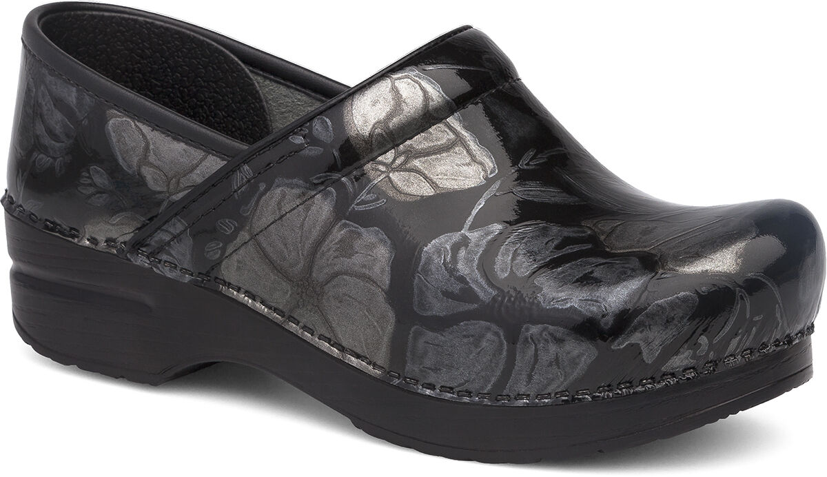Women's Dansko Professional Pewter Floral Patent Leather