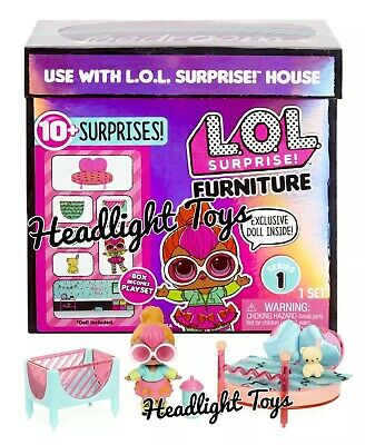 New LOL Surprise Furniture Set Neon Bedroom House Playset with Exclusive Doll