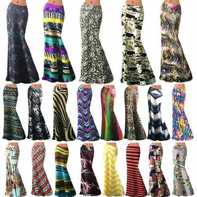 Womens Gypsy Long Jersey Maxi Dress Summer Skirt Ladies Skirt Size 8-26*jrsyskt