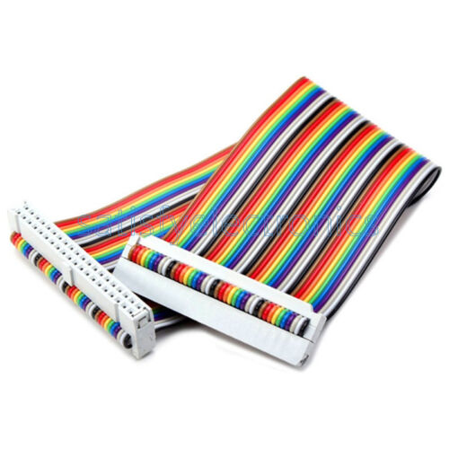 40 PIN Way GPIO Rainbow Ribbon Cable for Raspberry Pi Model B 20cm Model B