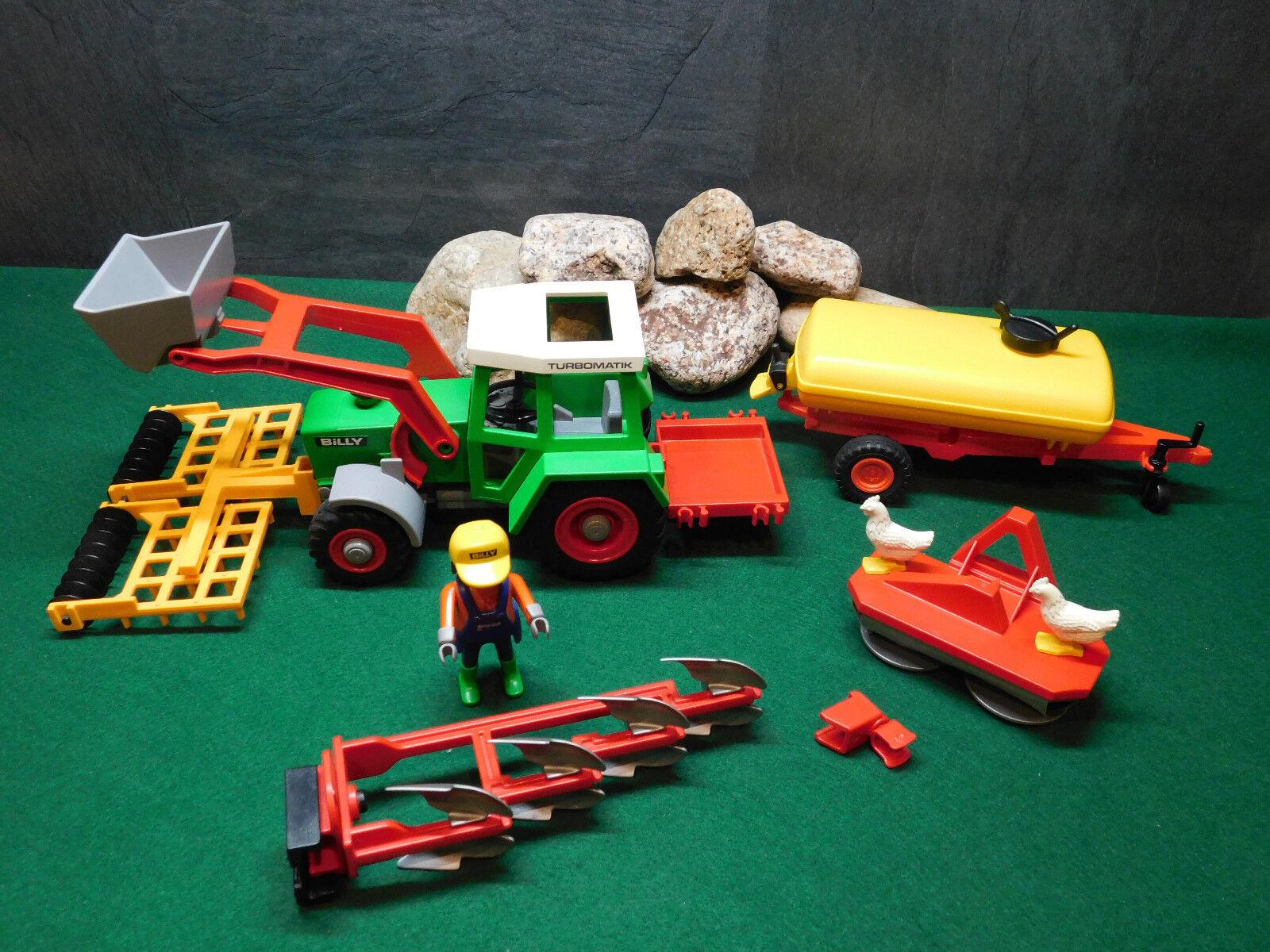 Playmobil Großes Traktor Billy Set 3718-A 1992 Düngerfaß aus 3502-A 78 ohne OVP