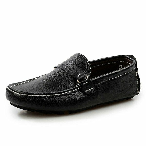 Men's Leather Lazy Moccasins Soft Slip On Driving Loafers, Size 10 / 44, New