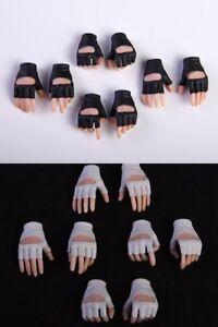 """1//6 Female Girl Black Gloves Gun Hold Hands Type*8 For 12/"""" Phicen Pale Figure"""