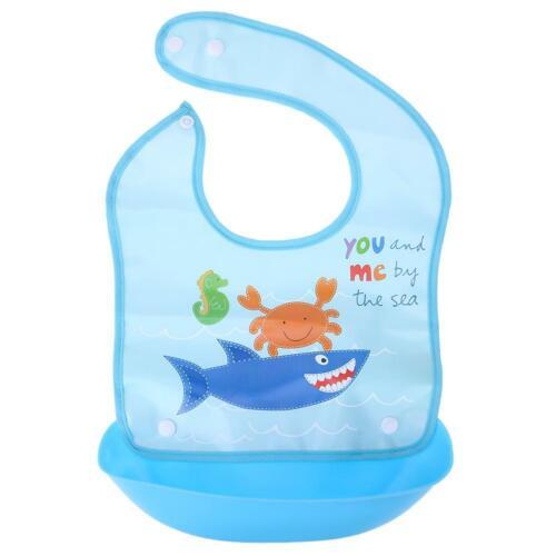 Baby Feeding Rice Bib Silicone Children Waterproof Saliva Towel Cartoon Aprons