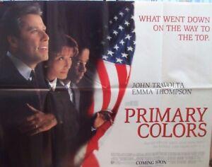 john travolta primary colors 1998 original uk quad movie poster uk