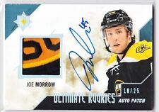 BOSTON BRUINS 2014-15 UD ULTIMATE ROOKIES JOE MORROW AUTO PATCH #'D 10/25