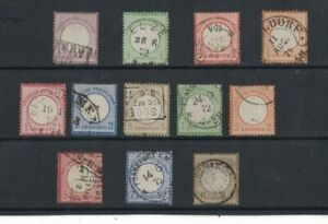 1872-Germany-SG-1-13-12-stamps-Fine-Used