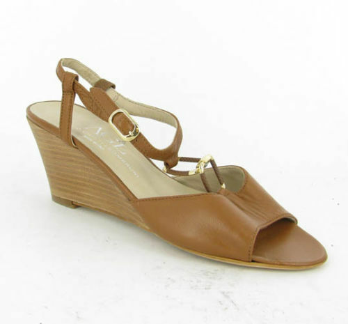AGL NEW  Link Wedge Sandal Marronee Sandals Sandals Sandals MSRP  340 Donna  Dimensione 38 EU  8M US ANB fd04b0