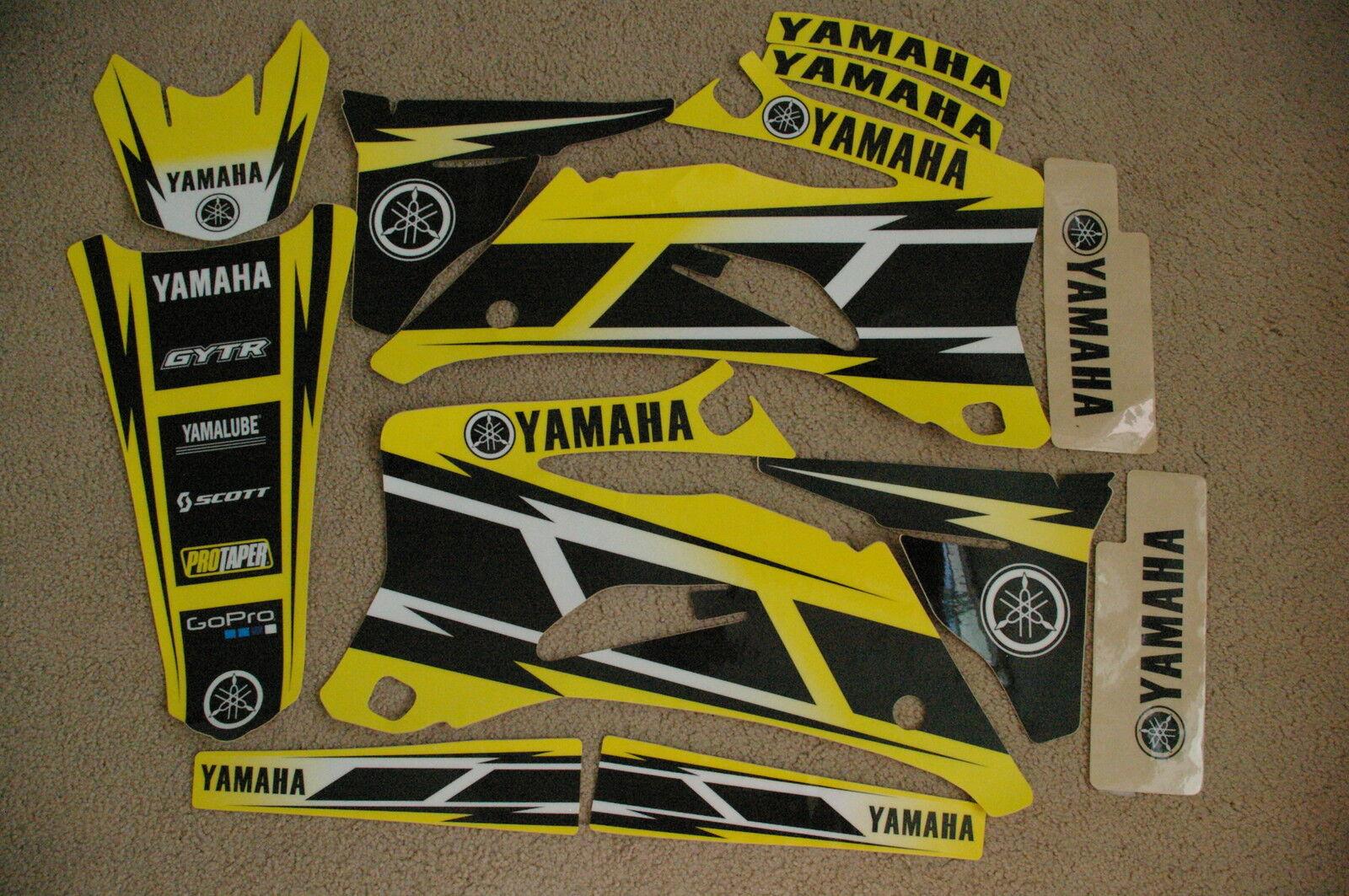 YAMAHA HURRICANE YELLOW  GRAPHICS  YZ250F YZ450F   2006  2007 2008  2009 2