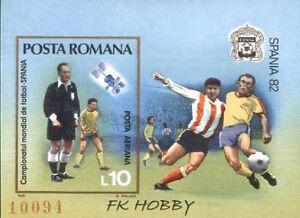Romania 1981 Mi BL 185 ** Sport Football Fußball Piłka Nożna Spanien -  Dabrowa, Polska - Romania 1981 Mi BL 185 ** Sport Football Fußball Piłka Nożna Spanien -  Dabrowa, Polska