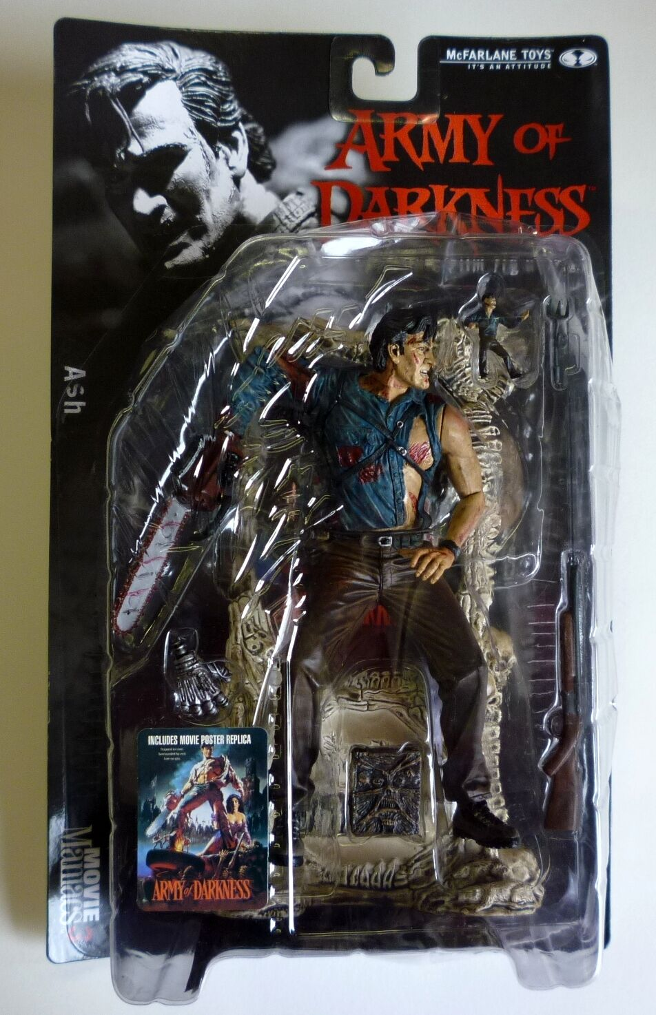 McFarlane Toys Ash Movie Maniacs Series 3 Action Figure VF Army of Darkness