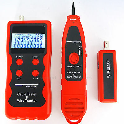 Cable Tester Network Scanner Telephone Wire/LAN Tracker RJ45  RJ-11 BNC Generic