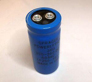 350uF-250VDC-Sprague-36D-Powerlytic-Can-Screw-Terminal-Computer-Grade-Capacitor