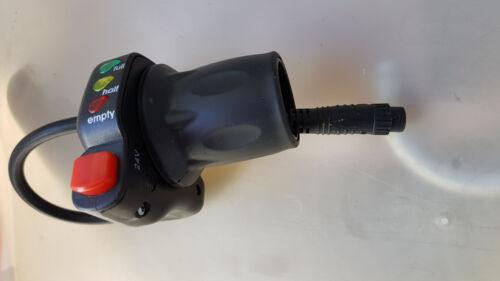 Ebike electric bike grip twist throttle control 24v 8 pin julet connector LEDs