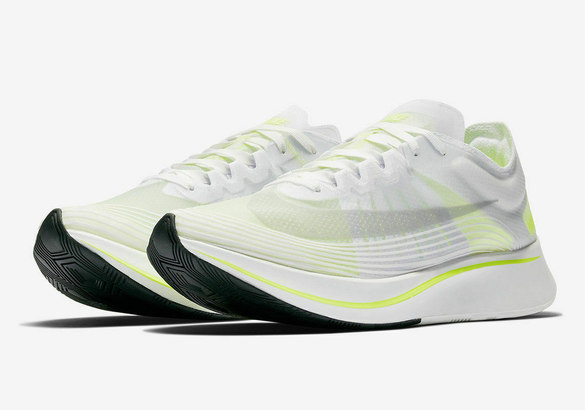 Womens Nike Zoom Fly SP AJ8229-107 White Volt Glow NEW Size 11