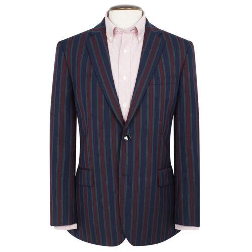 Nouveau Homme BROOK TAVERNER Richmond Rayures Blazer-Rouge/Bleu marine/vert-Choisir Taille