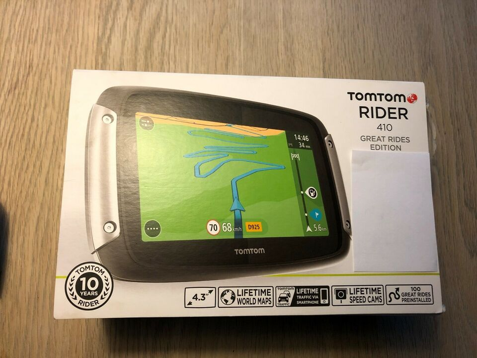 GPS til MC, Tomtom Rider 410 Great Rides Edition