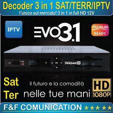 DECODER COMBO DIGITALE TERRESTRE SATELLITARE  MEDIASET TIVUSAT FULLHD EVO3.1