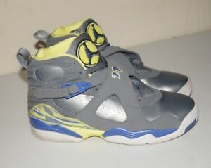 9c24d900af28 Air Jordan 8 Retro GS Laney Cool Grey Electric Yellow Size 7Y 2014 ...