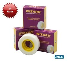 8 Rolls Invisible Magic Tape Sticky Write On Wizard Sellotape 19mm By Smco