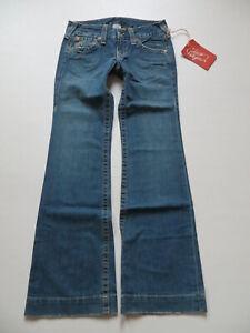True-Religion-CANDICE-Schlag-Jeans-Hose-W-26-L-34-NEU-Schlaghose-Made-in-USA