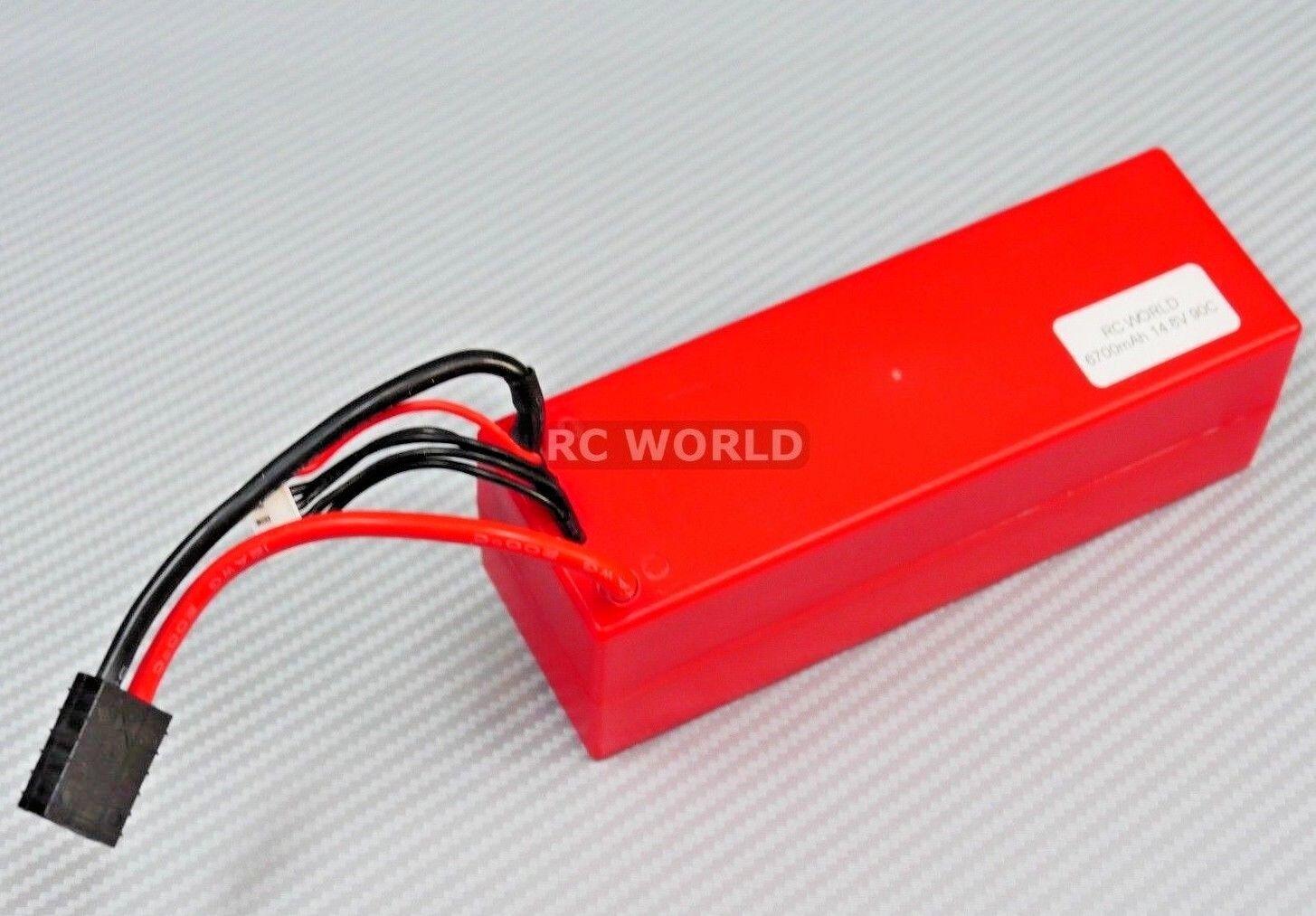 RC mundo 4S 6700mha 14.8 V 90c 4S con enchufe de traxas pilas de litio - litio