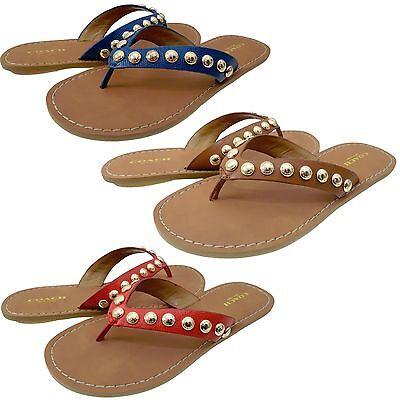Coach Womens Cascade Casual Slip On Thong Flip Flops Studded Flats Sandals | eBay