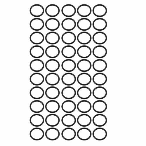 50Stk schwarz Nitril Butadien Gummi NBR O-Ring 5mm x 4mm x 0,5mm Breite