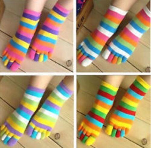 Children/'s Socks 5 Toe Novelty Striped Socks Snugadoo Super Soft New With Tags