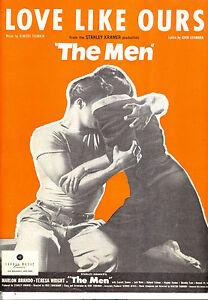 THE-MEN-Sheet-Music-034-Love-Like-Ours-034-Marlon-Brando-Teresa-Wright