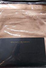 DKNY Donna Karan Modern Classics 3PC Queen DUVET COVER & SHAMS Rose Gold $876New
