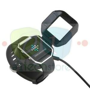 USB-Charging-Cable-Power-Charger-Dock-Cradle-For-Fitbit-Blaze-Watch-No-Removal