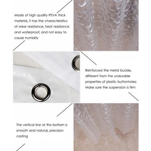 Bathroom Clear Curtain Extra Long Eco-Friendly Washable Shower Curtain 180x180cm