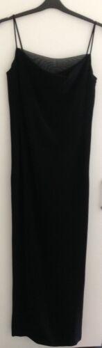 40 Dress Gown Mesh size 6 Neckline Kenzo Maxi S 8 label uk With Black OfnHwaHx4