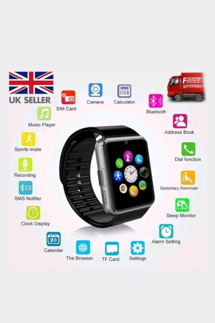 2019 Bluetooth Smart Watch For Android iOS iPhone Apple GSM GPRS SIM UK Samsung