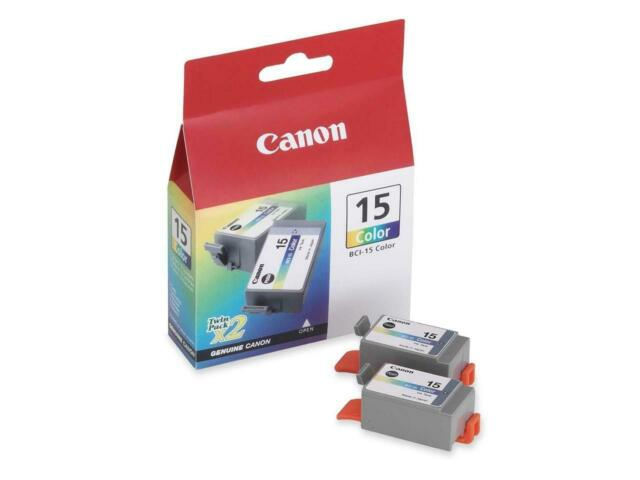Canon BCI-15 Ink Cartridge - Dual Pack - Color