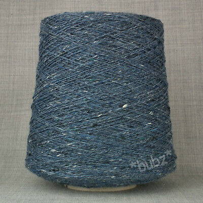SHETLAND WEAVING WOOL 4 PLY 2//9NM GREEN TWEED 500g CONE TEN BALLS KNIT FELT MARL