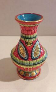 Vaso-in-ceramica-deruta-rossa-decorato-in-oro-zecchino
