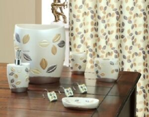 Brilliant Details About 6 Piece Decorative Bathroom Accessory Set Made Of Ceramic Sabrina Beige Beutiful Home Inspiration Ommitmahrainfo