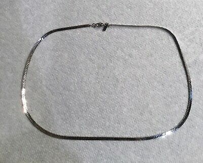 Vintage Monet silver tone figaro chain necklace