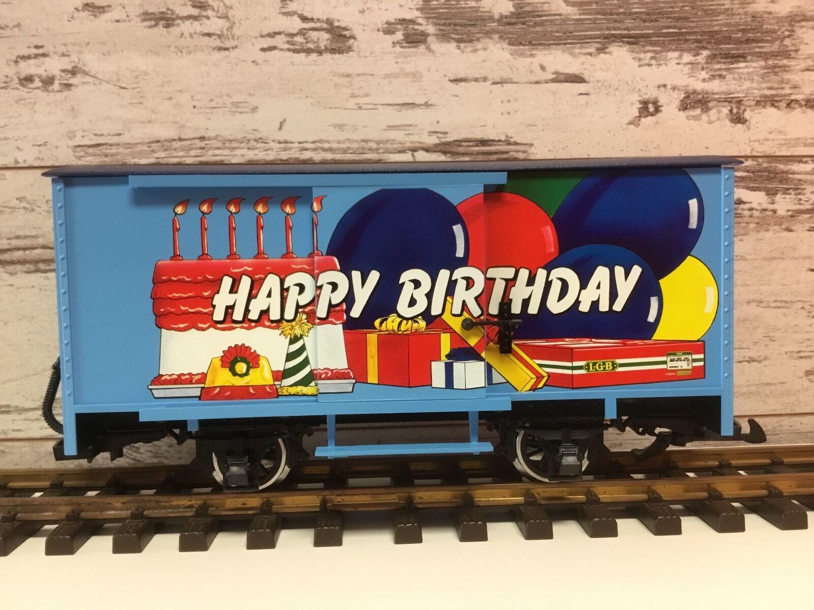 LGB 4435 HB HAPPY BIRTHDAY TO YOU MUSICAL BOX CAR - G SCALE