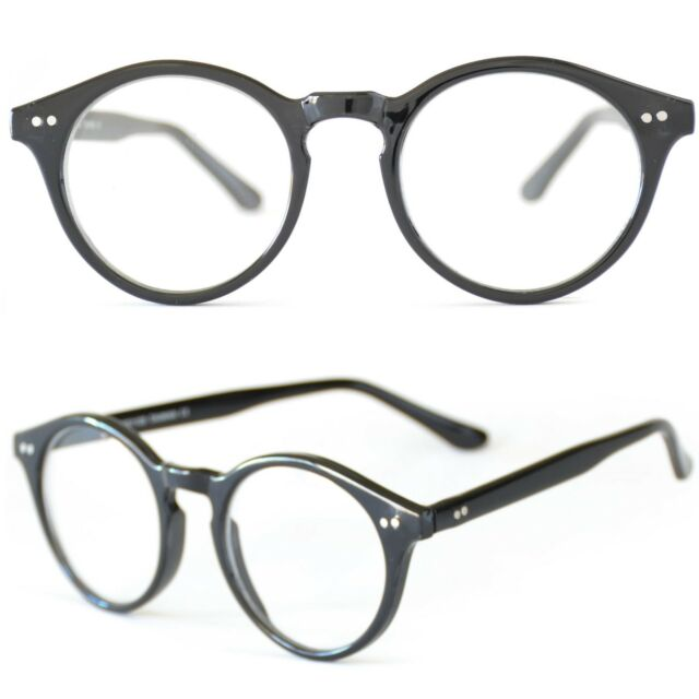 RETRO VINTAGE STYLE Clear Lens Eye Glasses Hipster Cool Nerd Smart Round Oval
