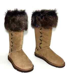 7718fa44334 New $295 UGG Australia 1008044 ROSANA Chestnut Winter Boots Women ...