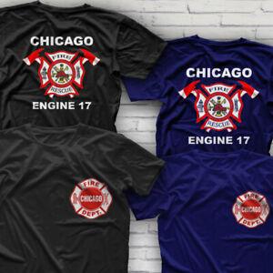Rare Design Tv Series Chicago Firefighter Fire Department T Shirt