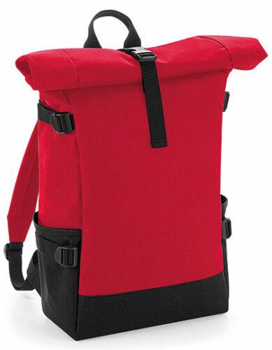 Bag Base Sac à dos Rolltop 858 Gris Rouge Laptopfach Rembourré 20 L