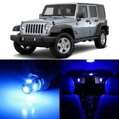 9 X Ultra Blue Interior Led Lights Package For 2007 2017 Jeep Wrangler Tool Ebay