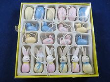 """Wooden Easter Tree Ornaments  """"PIER 1 IMPORTS"""" Lot of 20 Miniature  NWT"""