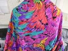 2 YD GOOD WEIGHT fabric NYLON LYCRA SPANDEX PRINT V118