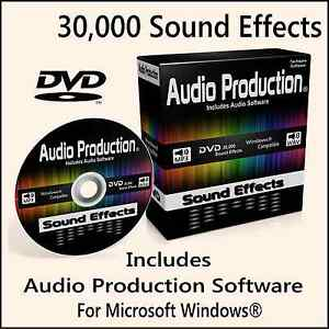 30-000-Digital-Sound-Effects-DVD-DJ-Mixing-Music-Edit-Recording-Audio-Software