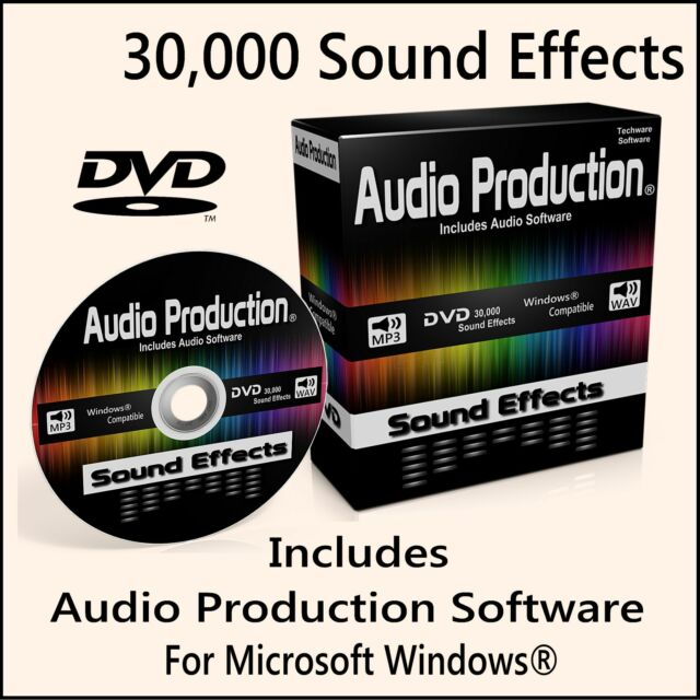 30,000 Digital Sound Effects DVD DJ Mixing Music Edit Recording Audio Software